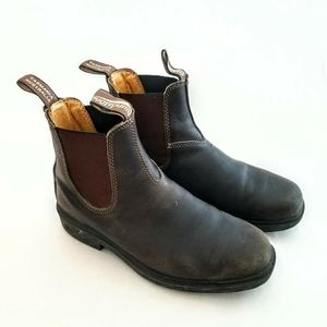 BLUNDSTONE Chisel Toe Stout Brown Dress Boots